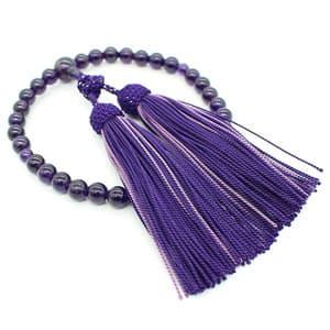 紫水晶8mm 喜芳結び 正絹房