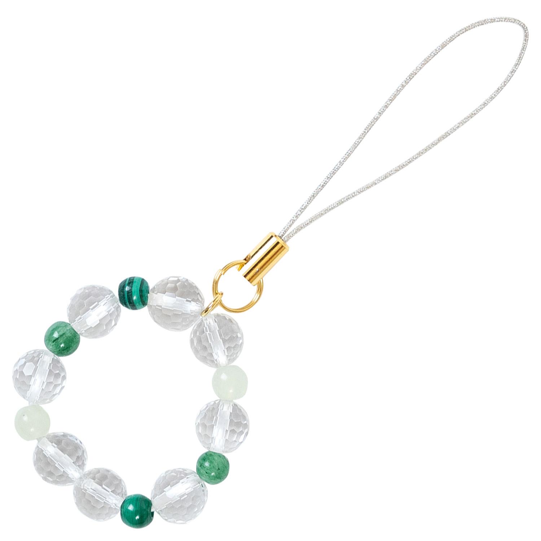 数珠屋 が つくる 願い を 叶える カラー パワーストーン キーホルダー ( 色 の 力 ) / 緑