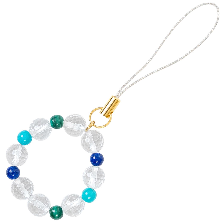 数珠屋 が つくる 願い を 叶える カラー パワーストーン キーホルダー ( 色 の 力 ) / 青・緑